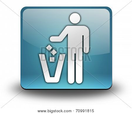 Icon, Button, Pictogram Litter Container