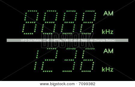 VFD Dot Matrix AM Radio Display Macro Green poster