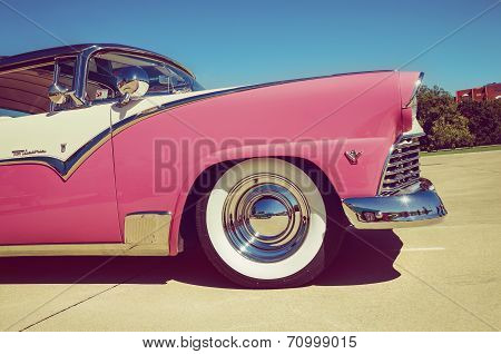 Pink 1955 Ford Crown Victoria