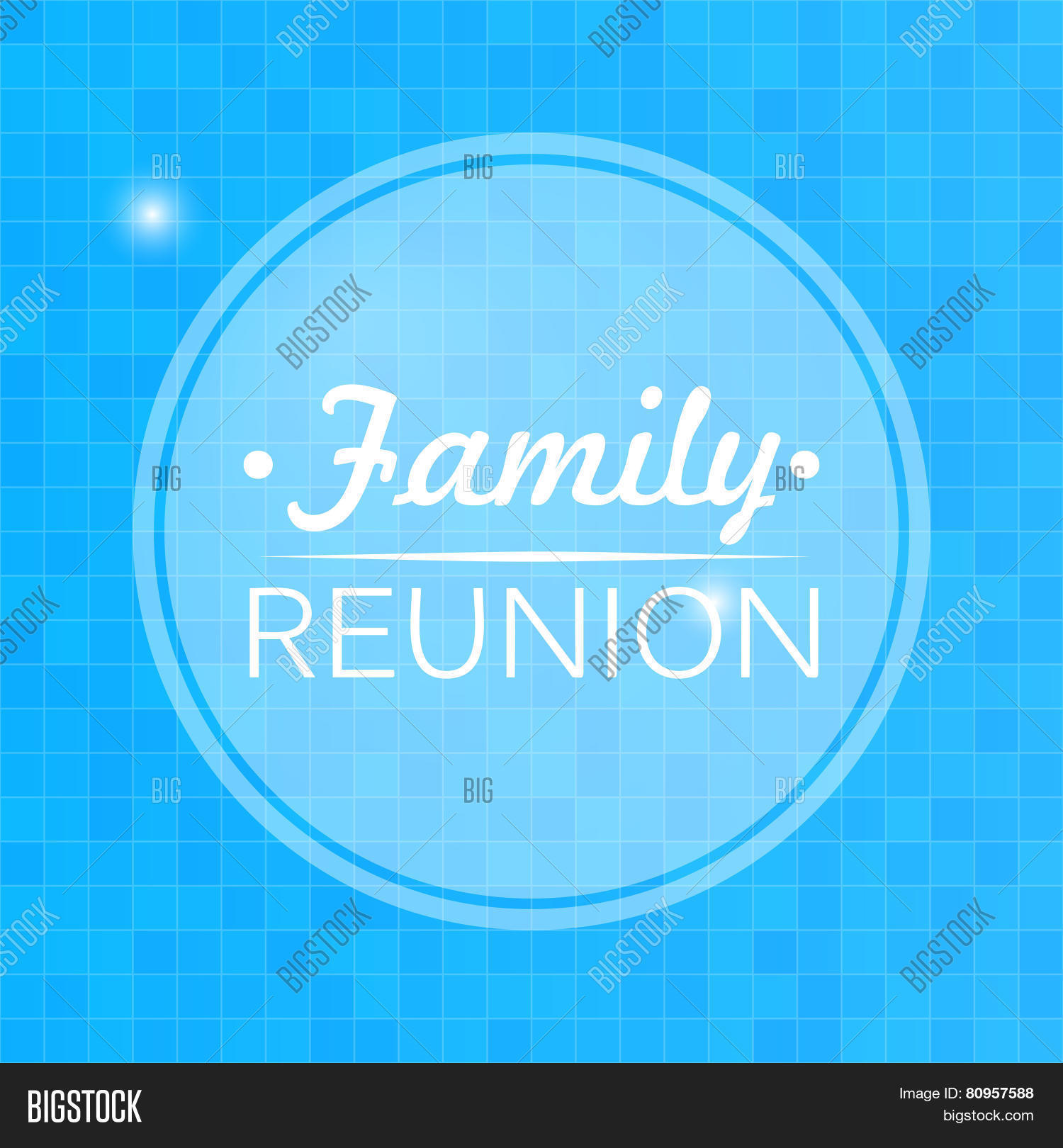 quote inspirational poster typographical design family reunion blurred blue background