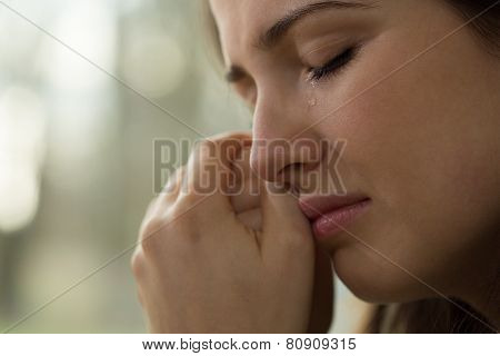 Young Woman With Problems