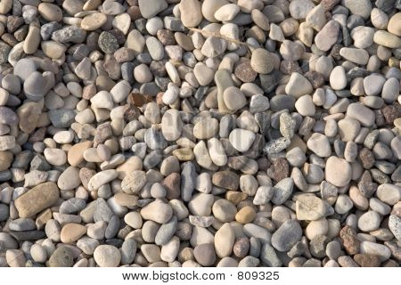 stones on the beach poster