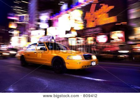 Taxi in Times Square, New York