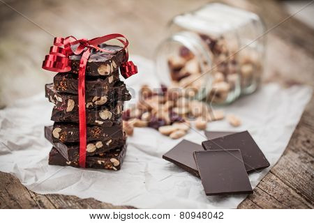 Home Made Chocolate As Gift
