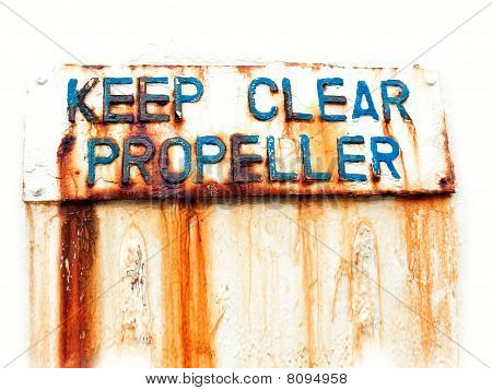 Keep Clear Propeller