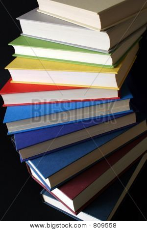 Spiral of Colorful Books