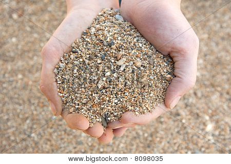 Handful Of Coarse Sand