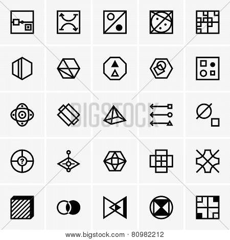 IQ test icons