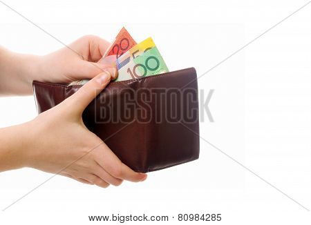 Hands With Wallet