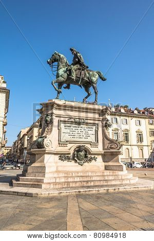 The equestrian monument of Alfonso Ferrero della Marmora