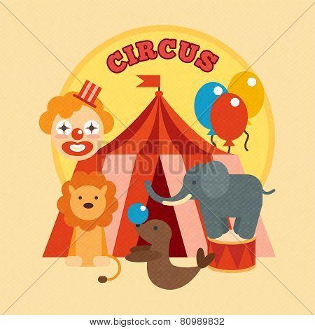 Circus Poster Flat
