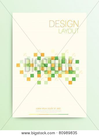 Abstract square Design Vector Template Layout For Magazine Brochure Flyer Booklet Cover Annual Repo Abstract square design vector template layout for magazine brochure flyer booklet cover annual report in A4 size
