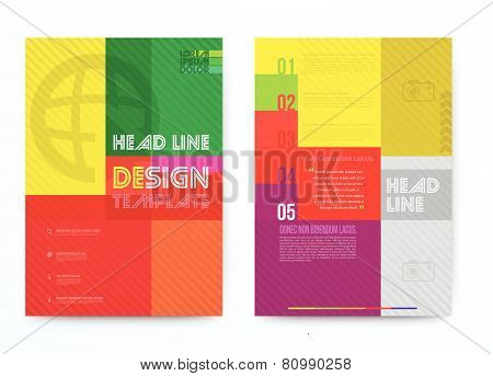 Abstract rectangle Design Vector Template Layout For Magazine Brochure Flyer Booklet Cover Annual Repo Abstract square design vector template layout for magazine brochure flyer booklet cover annual report in A4 size