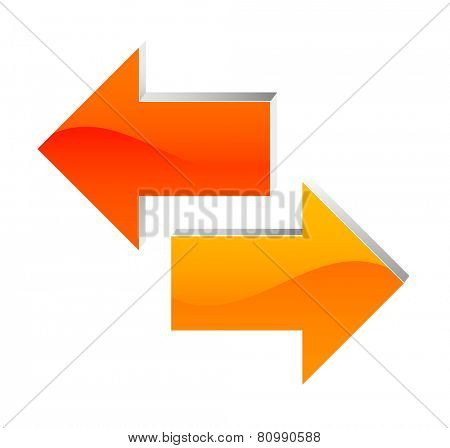 arrow to left and right