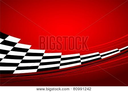 red racing banner