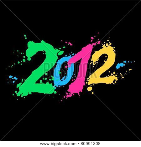 new year 2012. color figures