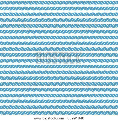 blue and white seamless pattern from marine rope. eps8