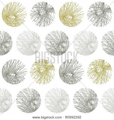 abstract seamless geometric pattern from circle. eps8