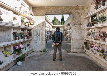 Man In The Verano Cemetery