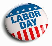 Labor Day USA American holiday patriotic icon. poster