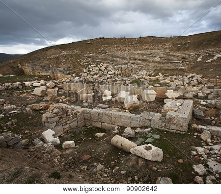 Stone Ruins At Turkey