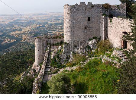 Kantara castle in Northern Cyprus.