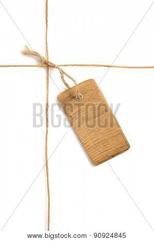 twine cord isolated on white background