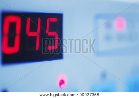 Medical Laboratory Machine Digital Readout Showing Numbers 045