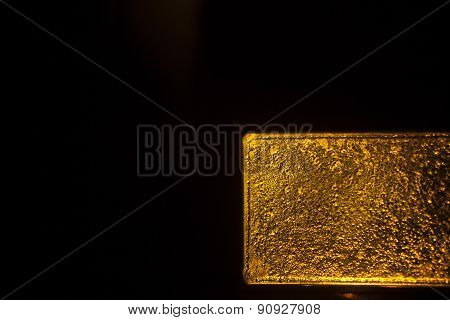One Kg Gold Bullion Bar 999.9 On Plain Black Background