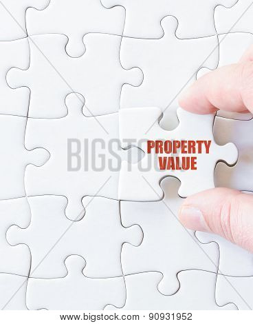 Missing Jigsaw Puzzle Piece With Words  Property Value