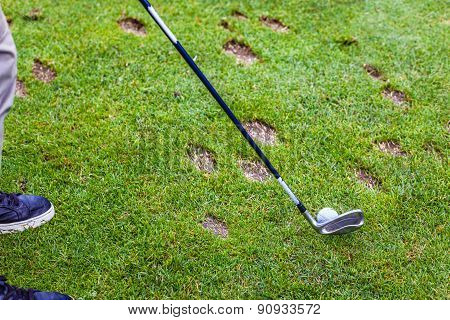 Divot On The Fairway