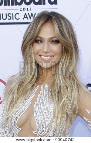 LAS VEGAS - MAY 17:  Jennifer Lopez at the Billboard Music Awards 2015 at the MGM Garden Arena on May 17, 2015 in Las Vegas, NV