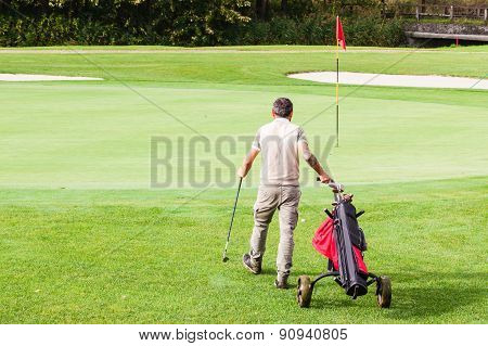 Strolling On The Golf Course