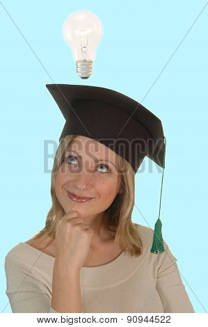 Young Girl With Bachelor Cap