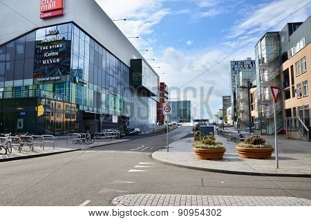 Almere, Netherlands - May 5, 2015: People Visit Modern City Center Of Almere