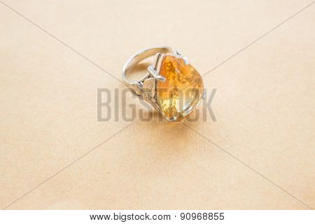 Yellow Gem Stone Jewellery Ring