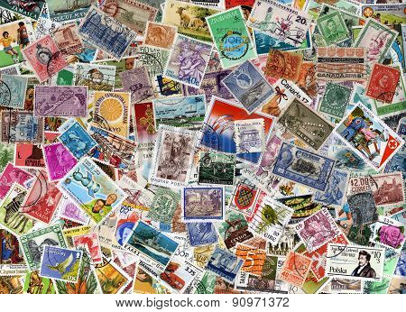 World postage stamp collection