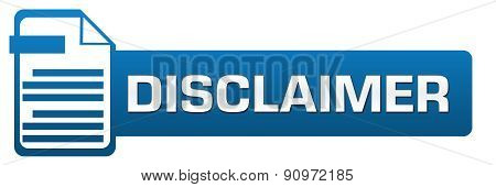 Disclaimer File Icon Horizontal