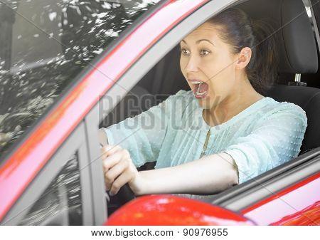 Road Trip Risk Danger Concept