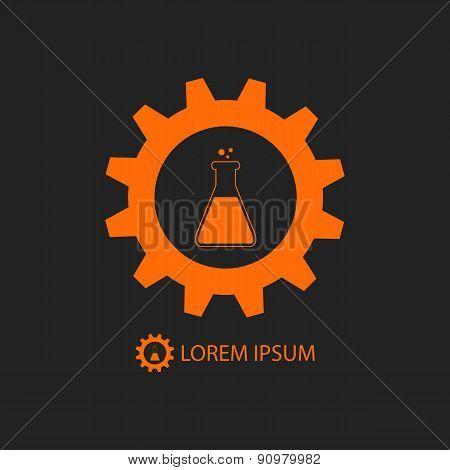 Orange chemical industry logo