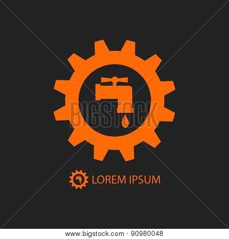 Orange plumbing logo