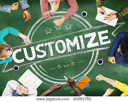 Customize Change Customization Innovate Improvement Concept