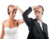 False marriage between two people not sincere poster