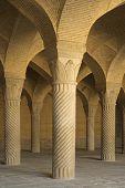 vakil mosque shabestan pillars of prayer hall poster