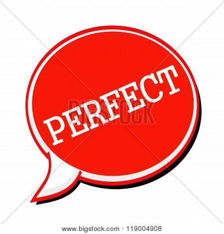 Perfect White Stamp Text On Red Speech Bubble