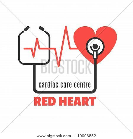 Medical logo for cardiac care centre