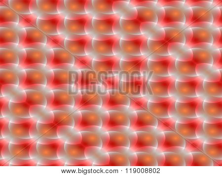 Abstract seamless spotted diagonally pattern orange red colors