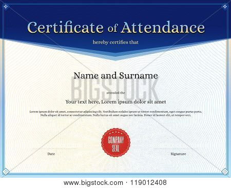 Certificates Of Attendance Templates