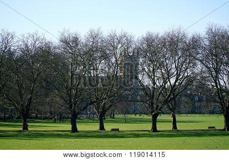 Jesus Green, A City Park In Cambridge, England