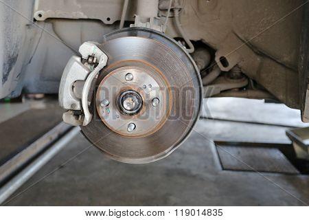 Wheel Hub Of A Car In Repair Of The Damage.